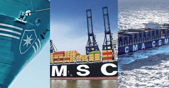 CMA CGM, Maersk Line,MSC themaritimenews